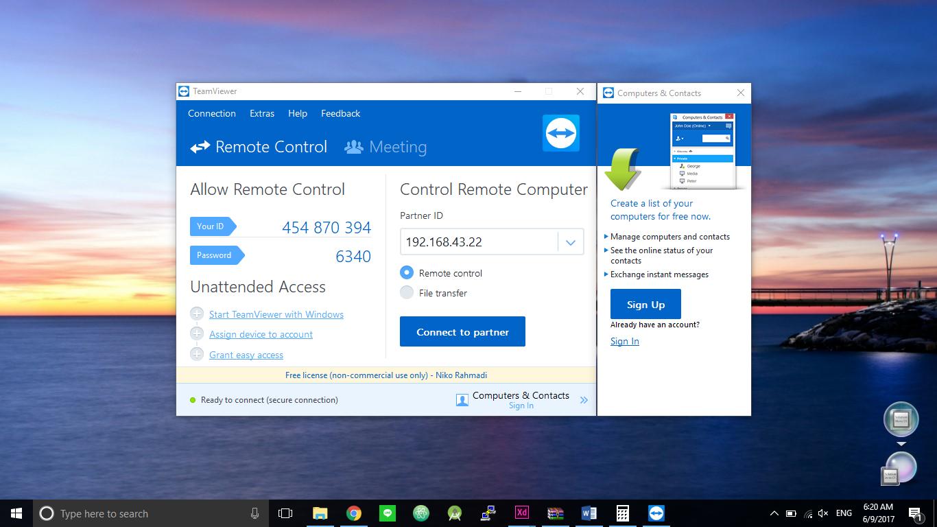 Cara Remote Desktop Dengan TeamViewer di Jaringan Lokal