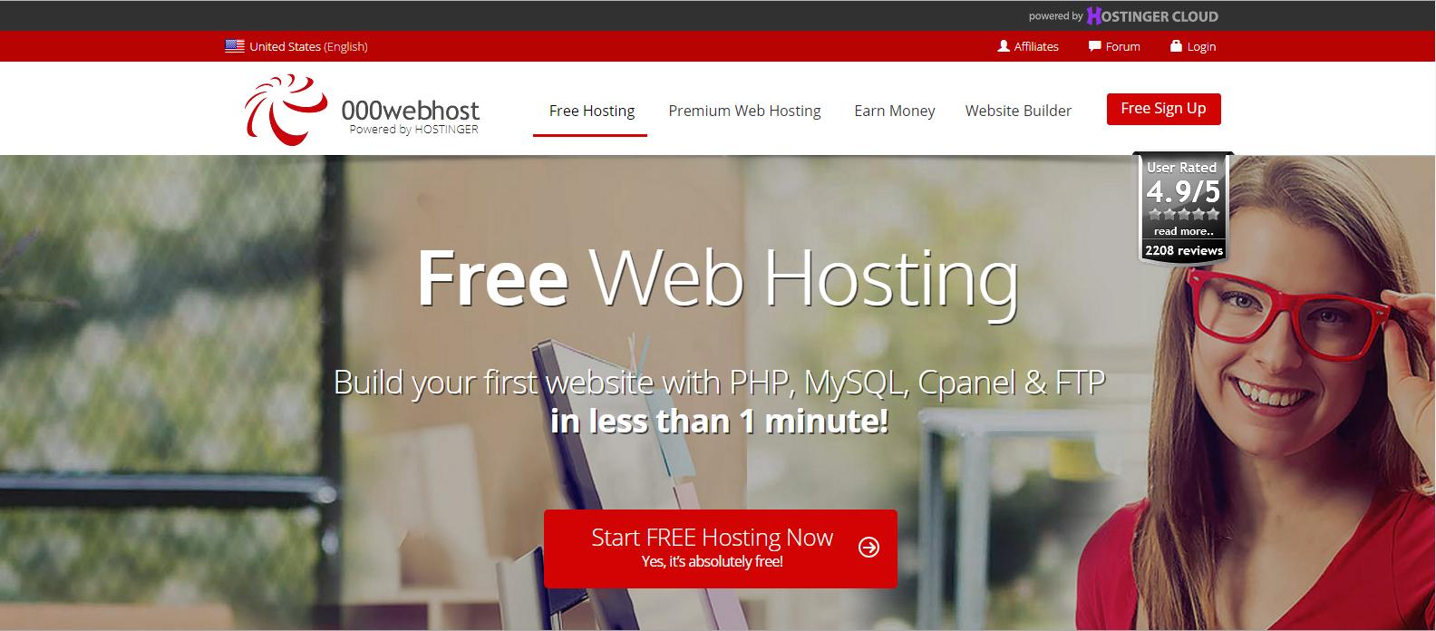 Hosting Gratis - 000webhost