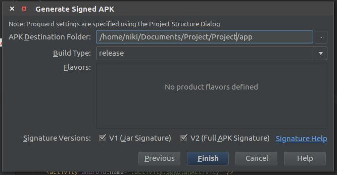 Generated APK