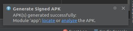 Release APK Success