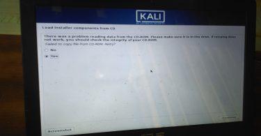 "[SOLVED] Mengatasi ""Load Installer Components From CD"" Saat Menginstall Kali Linux"