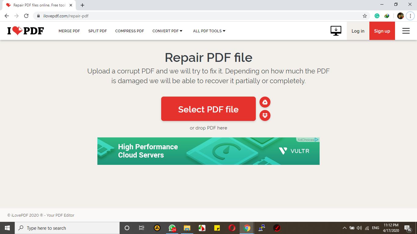 Perbaiki PDF, Atasi file PDF yang tidak mau dibuka di PDF Reader atau aplikasi Browser (rusak / Rusak)